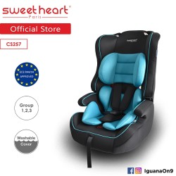 Sweet Heart Paris CS257 Group 1,2,3 Safety Car Seat Booster (Black Teal) with Side Protection