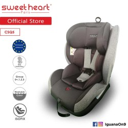 Sweet Heart Paris Group 0+,1,2,3 CSQ5 Car Seat Booster (Black Grey) with ISOFIX