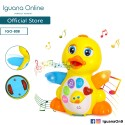 Iguana Online Early Education Electric Baby Toy Bump and Go Dancing Duck with Music for Children Kids Boys and Girls