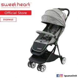 Sweet Heart Paris St Genius Compact Fold Stroller with Aluminum Frame (Grey)'