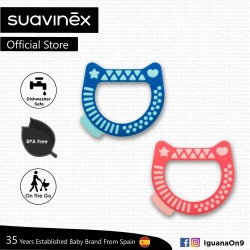 Suavinex BPA Free 4+ Months Kitty Teether with Case (Assorted Color)