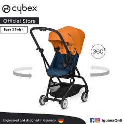 CYBEX GOLD EEZY S TWIST (Tropical Blue) Stroller With 360 Degree Rotation - Cybex Malaysia Official Store