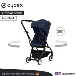 Cybex Gold Eezy S Twist (Denim Blue) Stroller With 360 Degree Rotation - Cybex Malaysia Official Store'