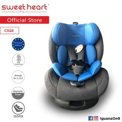 Sweet Heart Paris Group 0 ,1,2,3 CSQ5 Car Seat Booster (Blue Grey) with ISOFIX