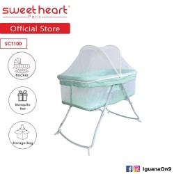 Sweet Heart Paris SCT100 Foldable Baby Bed Cot with Rocker Function and Storage Bag