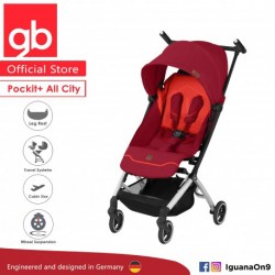 gb Pockit Plus ALL CITY World Lightweight Cabin Size Stroller with Reclining Seat (Rose Red)