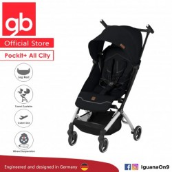 gb Pockit Plus ALL CITY World Lightweight Cabin Size Stroller with Reclining Seat (Velvet Black)