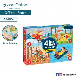 Iguana Online Four Season 4 in 1 Puzzles with Cute Fox Family Learning Set for Kids IT034