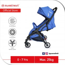 Sweet Heart Paris Compact Stroller Savannah 2.0 with Free Travel Bag (Blue)