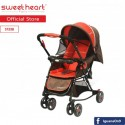 Sweet Heart Paris 2IN1 Stroller + Rocker Cradle ST338 with Reversible Handlebar (Red Brown)\''