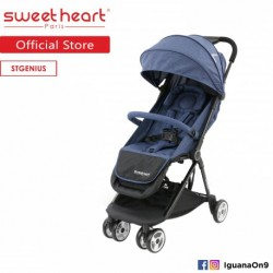 Sweet Heart Paris ST GENIUS Compact Fold Stroller with Aluminum Frame  and  Free Bag