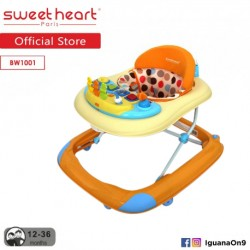 'Sweet Heart Paris Baby Walker BW1001 (Orange) With Crystal Wheel'