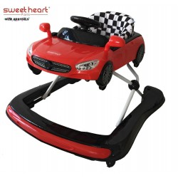 'Sweet Heart Paris 3IN1 Baby Walker BW6635 (Red)'