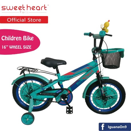 Sweet Heart Paris CB1601 C-MAX Children Bicycle (Green) Suitable from 4 to 9 years old\\\'\''