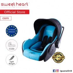 Sweet Heart Paris CS375 Baby Car Seat (New Blue) with Adjustable Canopy
