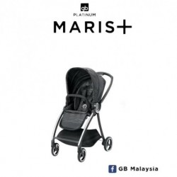 gb MARIS Plus (Lux Black) - LUXURIOS TRAVEL SYSTEM Stroller (gb Malaysia Official)'