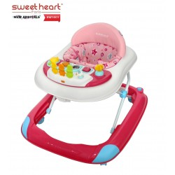 'Sweet Heart Paris Baby Walker BW1001 (Pink) With Crystal Wheel'