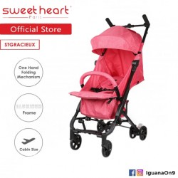 Sweet Heart Paris Cabin Size Stroller Gracieux(Red) with Self Standing'