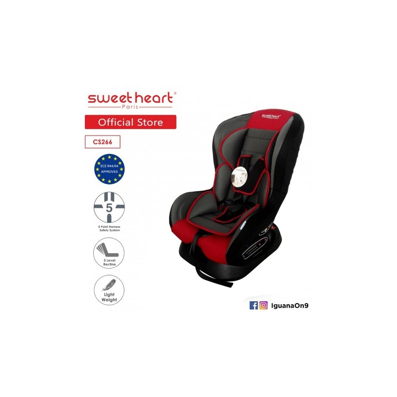 81fd901ec2 Sweet Heart Paris CS266 Safety Car Seat (Red) with Comfort Padded. Loading  zoom