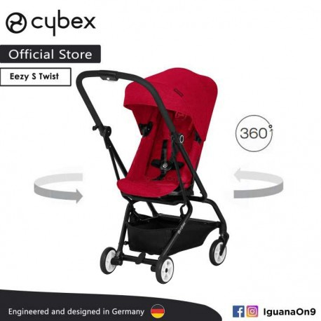 Cybex Gold Eezy S Twist Stroller Rebel Red With 360 Degree Rotation Cybex Malaysia Official Store Light Weight