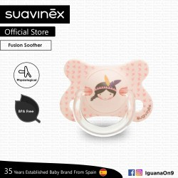 Suavinex BPA Free -2 - 4 Months Fusion Physiological Soother Pacifier For Premature Baby (Pink Indian)