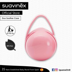 Suavinex BPA Free Duo Soother Pacifier Holder Box (Pink)