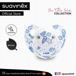 Suavinex In The Sea Collection BPA Free 0 - 6 Months Anatomical Soother Pacifier (White Sea)