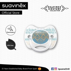 'Suavinex Couture Collection BPA Free 4 - 18 Months Physiological Soother Pacifier (Light Blue)'