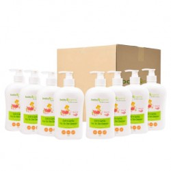 BabyOrganix Extra Gentle Top To Toe Cleanser - Rose (400ml) (8pcs)