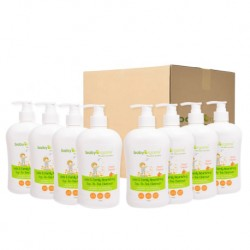 BabyOrganix Kids and Family Top To Toe Cleanser - Peach (400ml) (8pcs)