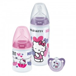 NUK Hello Kitty PCH Trio Pack with PP Bottle / Silicone S1 M