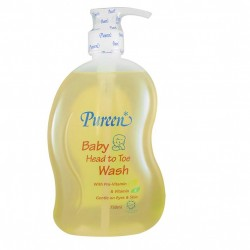 Pureen Baby Head To Toe Wash with Pro - Vitamin B5 & Vitamin E (750ml)