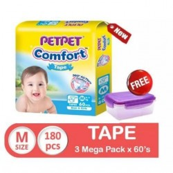 Pet Pet Comfort Tape Mega Pack M 3x60's (FREE Food Container)