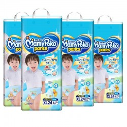 MamyPoko Extra Dry Skin Boy Pants XL (12-17kg) 24 X 4 packs 96 Pcs