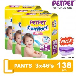 Pet Pet Comfort Pants L46 x 3 Packs (FOC Food Container)