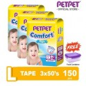 Pet Pet Comfort Tape Mega Pack L 3x50's