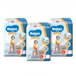 Huggies Dry Pants Super Jumbo Pack L50 (3 Packs)
