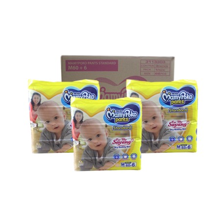 MamyPoko Pants Standard M 60 + 6 (3 Packs)