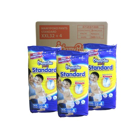 MamyPoko Pants Standard XXL 32+4pcs (3 packs)