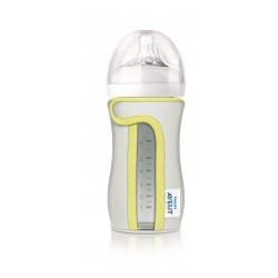 Philips Avent Sleeve for Natural Glass Bottle (260ml / 8oz) - Grey / Yellow Lining