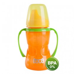'Lovi 250 ml Non-Spill Firm Spout 12+Month-Orange'