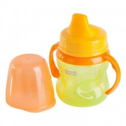LOVI 150 ml non-spill soft spout 6+month-Green