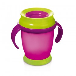 'Lovi 360 Lovi Cup With Handles  (210 ml) Magenta Mini 9+Months'