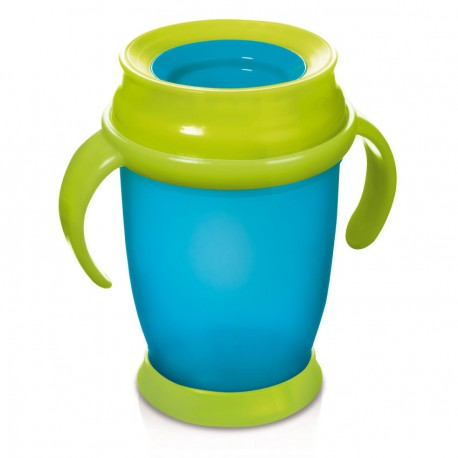 LOVI 360 CUP WITH HANDLES (250ML) Turquoise JUNIOR