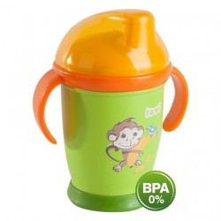 'Lovi Antibacterial Non Spill Cup 250ml Green'