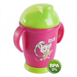 Lovi Antibacterial Non Spill Cup 250ml Pink