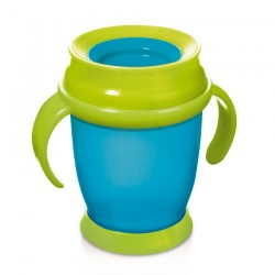 'Lovi 360 Cup With Handles (210ml) Mini - Blue'