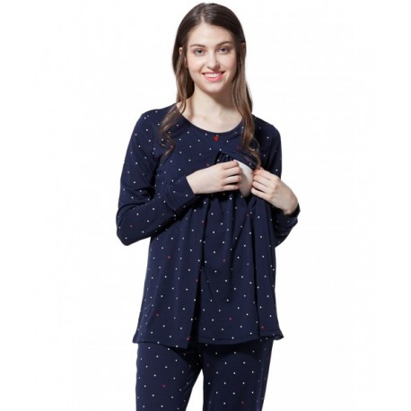 Mamaway Mickey Dotty Maternity   Nursing Pajamas  Sleepwear Set Baju Tidur 75d93fdfb1