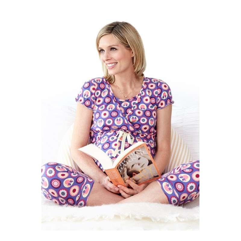 Mamaway Minnie Dot Pattern Maternity   Nursing Pajamas  Sleepwear Set Baju  Tidur - Purple. Loading zoom d5a916a8f4