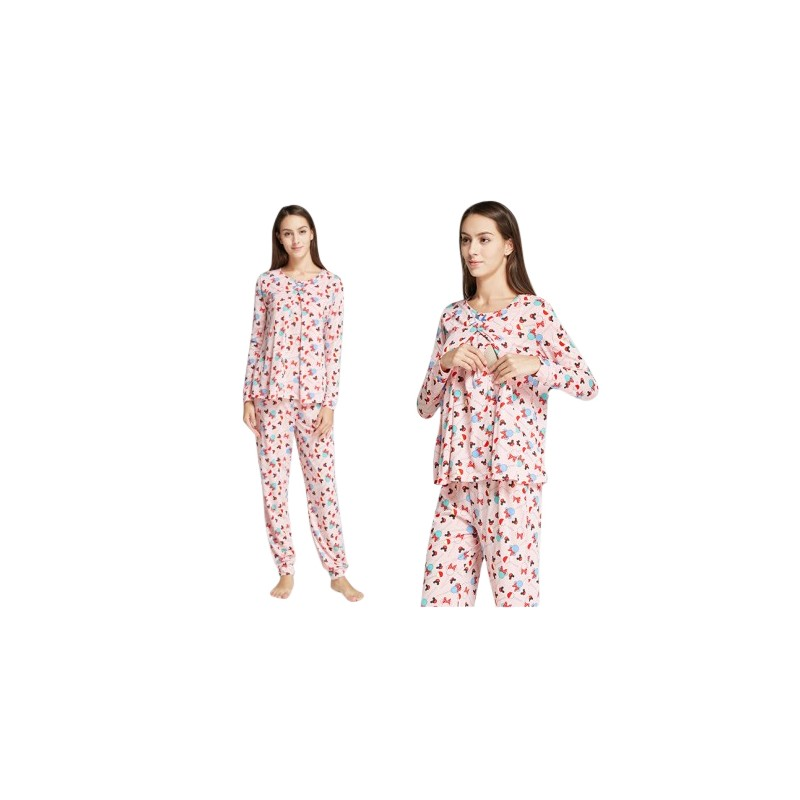 Mamaway Minnie Lollipop Maternity   Nursing Pajamas Sleepwear Set Baju Tidur  (PINK). Loading zoom d21cab1c7b